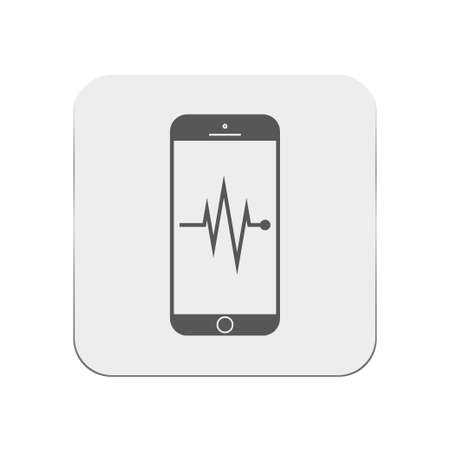 rate: mobile heart rate icon