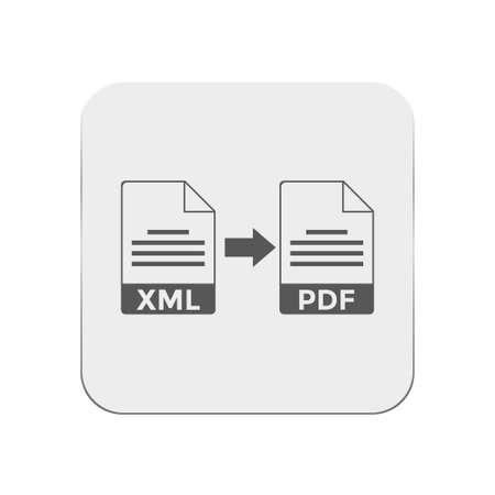 pdf: xml to pdf icon Illustration