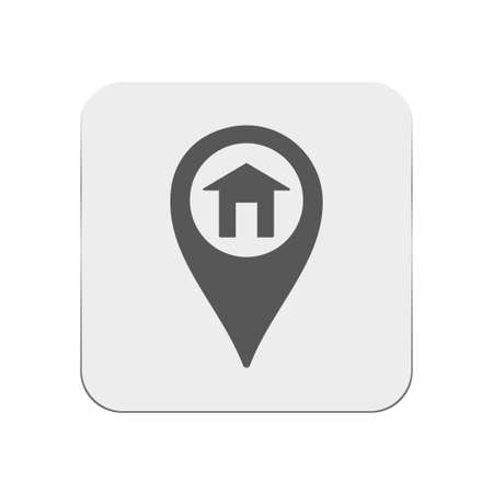 map pin: Map pin house icon Illustration