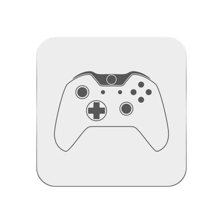 the gamepad: gamepad icon Illustration