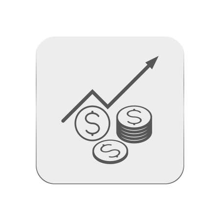 grow money: Money grow icon Illustration