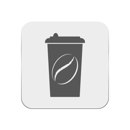 paper coffe cup icon Illustration