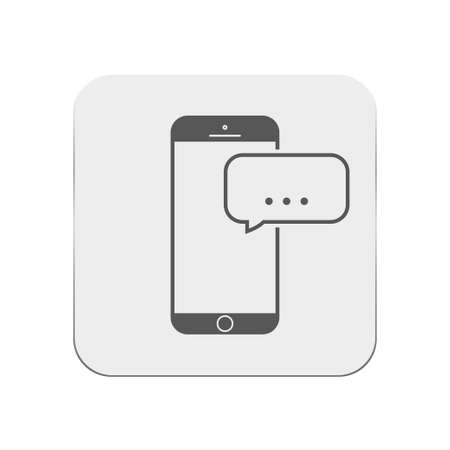 mobile sms: Mobile sms icon Illustration