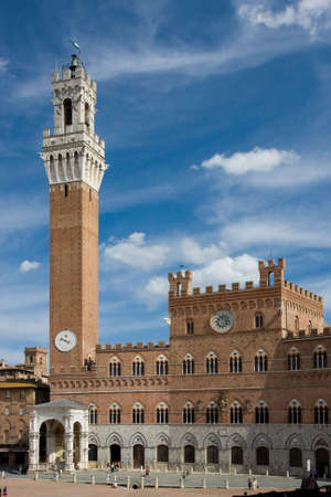 pilaster: The Torre del Mangia, Sienna Stock Photo
