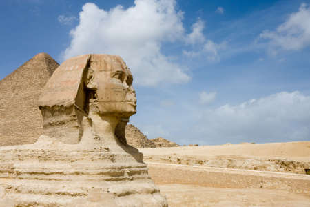 The Sphinx and Great Pyramids in Giza, Egypt Stock Photo - 6701850