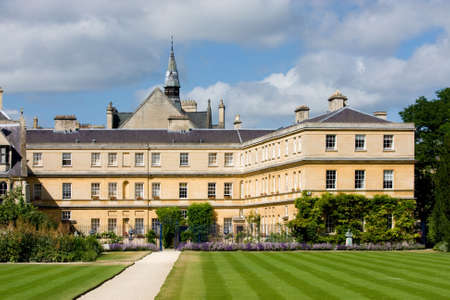 oxford: View of the rear garden of Trinity College, Oxford University