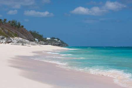 bermuda: View of a deserted beach in Bermuda Stock Photo