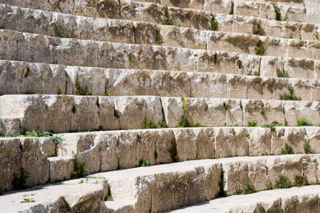 decrepit: Ruined steps at an amphitheatre in Jordan
