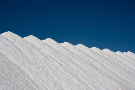obtained: Mountains of salt at Santa Pola, Spain, obtained from the evaporation of sea water