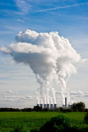 coal fired: Plumes of steam rising from Drax Power Station in Selby, North Yorkshire, Western Europes largest power station