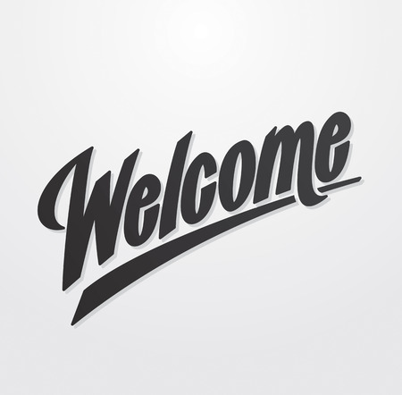 hand lettering: Welcome hand written lettering  Vector calligraphy Illustration