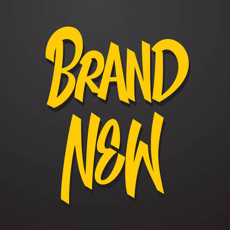 caption: Brand new hand lettering calligraphy  Vector