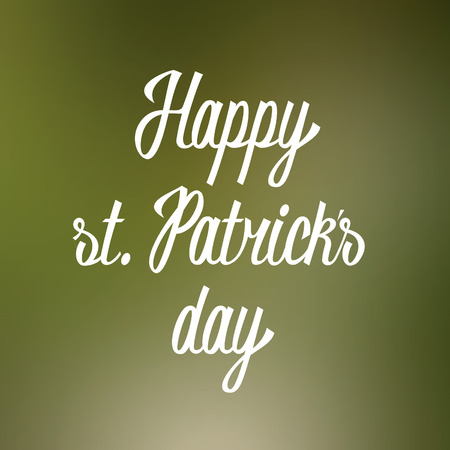 Happy st  Patricks day hand lettering  Vector Vector