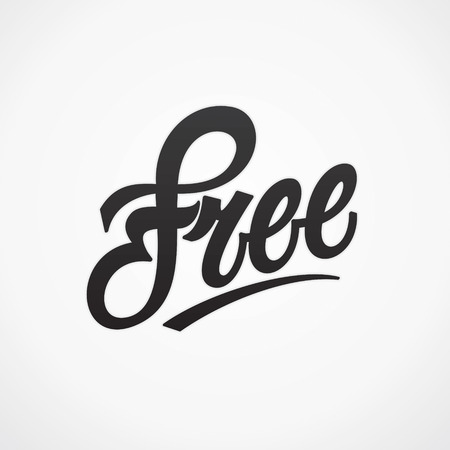 free vintage background: Free hand written lettering  Vector calligraphy Illustration