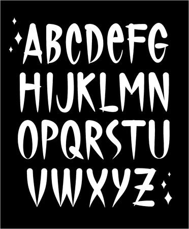 Hand written old school tattoo style font  Vector alphabet Vector