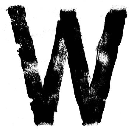 hand written: Hand written brush font type alphabet. Detailed vector