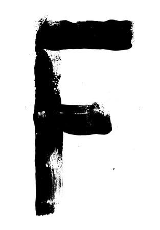 written: Hand written brush font type alphabet. Detailed vector