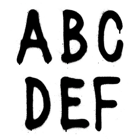 Mano scritto graffiti tipo di carattere alfabeto. Vector (parte 1)