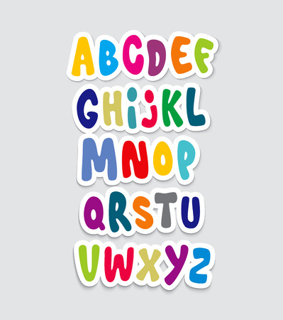 alphabet graffiti: Cartoon graffiti comico carattere alfabeto. Vettore