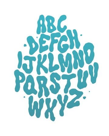 alphabet graffiti: Fuente de agua abstracto. El alfabeto del