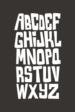 graffiti alphabet: Cartoon comic graffiti font alphabet. Vector