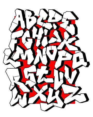 Straight lines font. Editable vector alphabet