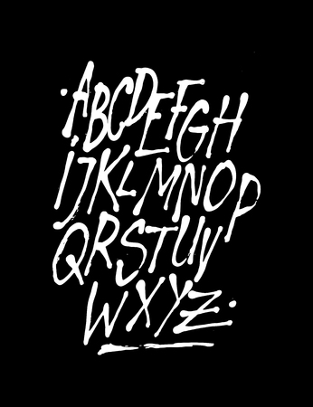 Hand style font. Vector alphabet