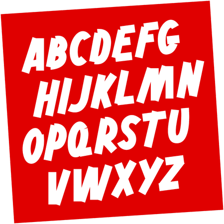 Soviet style Brush font. Editable vector alphabet Ilustrace