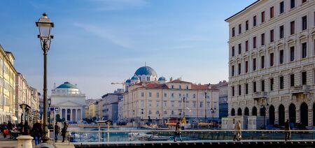trieste: Curto bridge in Trieste Italy