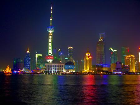 shanghai skyline: Classical Shanghai skyline by night