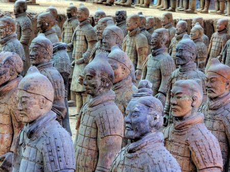guerriers en terre cuite. Xian Chine