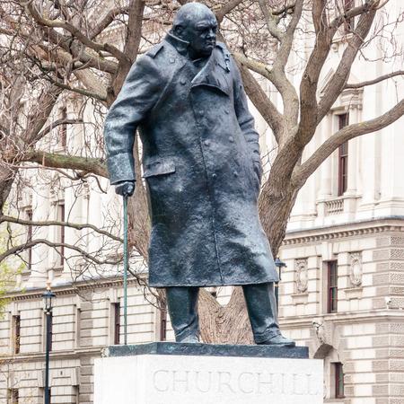 churchill: London, United Kingdom - April 11, 2014: Statue of Winston Churchill, Parliament Square Editorial