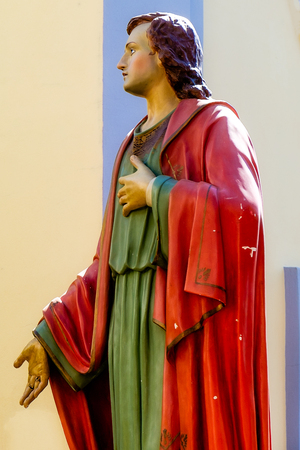 way of st  james: wooden statue of St. James During the Way of the Cross, south Italy