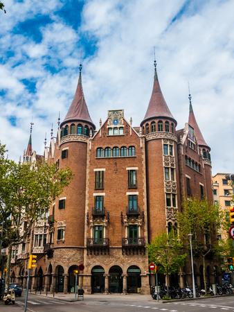 historical building: Historical building in Barcelona. Spain