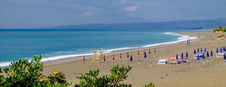 Giardini Naxos beach. Ionian sea. Sicily, Italy Reklamní fotografie