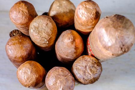 cancer foot: Head Capas of Cuban cigars