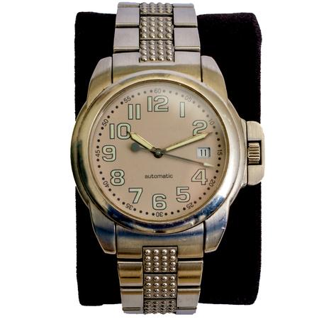One wristwatch closeup isolated Reklamní fotografie