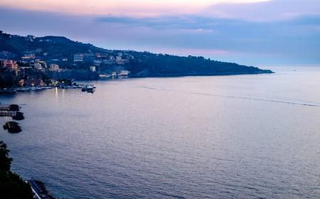 Sorrento sunset panorama, Mediterranean sea. Campania, Italy
