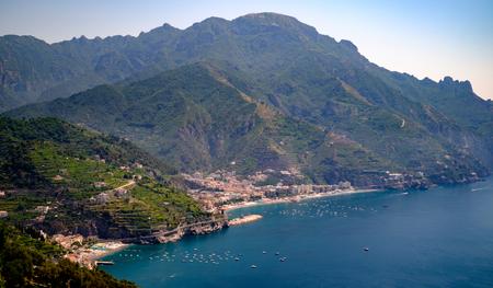 Maiori and Minori seen from Ravello. Mediterranean sea and Amalfi coast Italy Reklamní fotografie