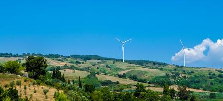 Wind farm in southern Italy, near Salerno