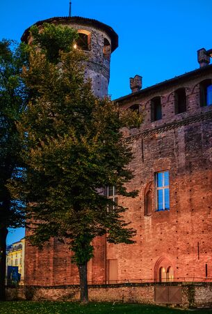 The Casaforte Acaja tower. Piazza Castello, Turin. Italy Redakční