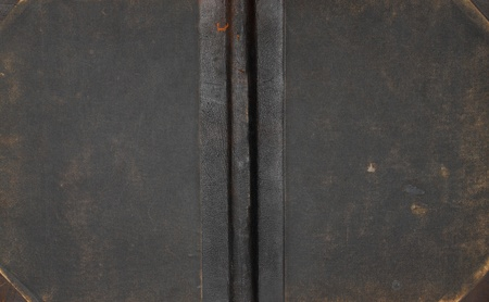 Closeup of antique leather book cover  Stock Photo