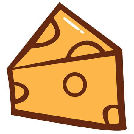 parmesan: Cheese Slice Clipart Vector Illustration
