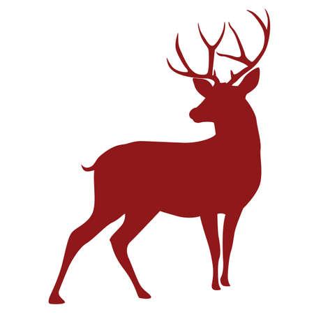 Deer Silhouette Vector Vektoros illusztráció
