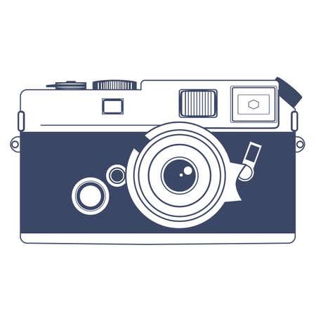 Vintage Camera Vector Clipart Art
