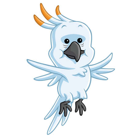 cockatoo: Cockatoo Cartoon Mascot Illustration Clipart