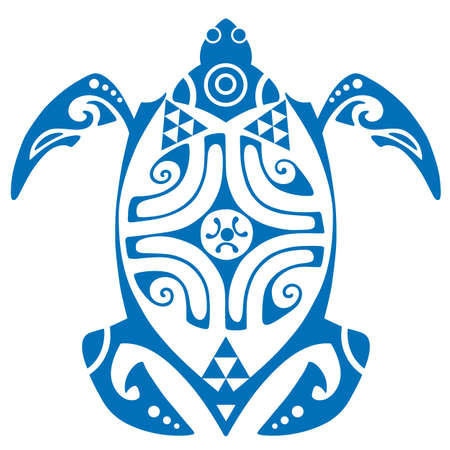 Maui Turtle Tattoo Motif Vector