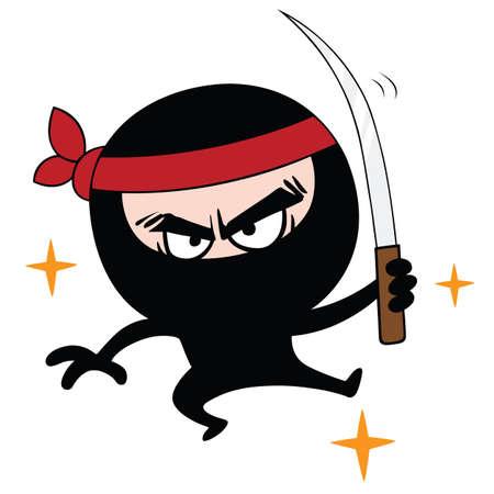 character assassination: Ninja Cartoon Vector