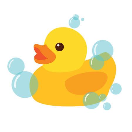 Pato de goma amarillo Icono de ilustración vectorial Ilustración de vector