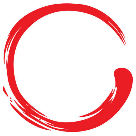 Red Zen Circle Simple Symbol